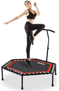 Trampolín para fitness con mango ajustable