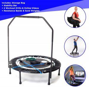 Trampolín para fitness plegable