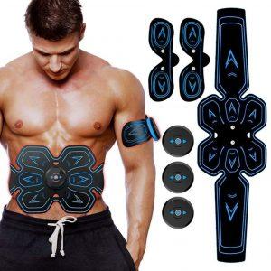 Electroestimulador abdominal con diseño ergonómico
