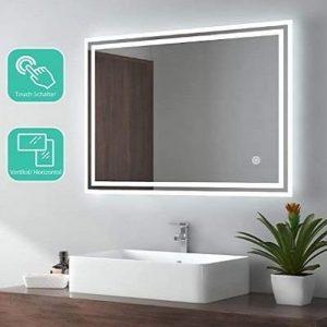 Espejo de baño con luz Emke