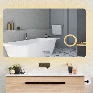 Espejo de baño con luz moderno Luvodi