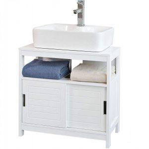 Mueble de baño de fondo reducido con madera lacada
