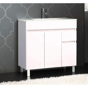 Mueble de baño de fondo reducido y cierre amortiguado