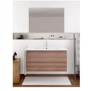 Mueble de baño de fondo reducido y toallero
